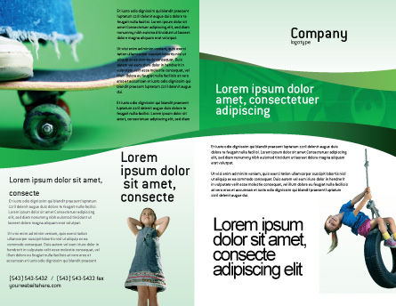 Skateboard Brochure Template, Outer Page, 01993, Sports — PoweredTemplate.com