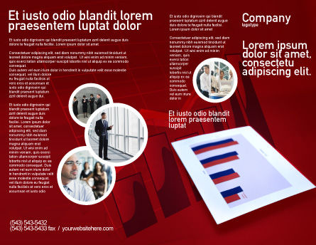 Red Histogram Brochure Template, Outer Page, 01994, Financial/Accounting — PoweredTemplate.com