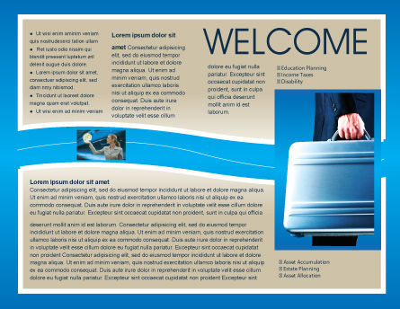 Suitcase  Brochure Template, Inner Page, 01996, Business Concepts — PoweredTemplate.com