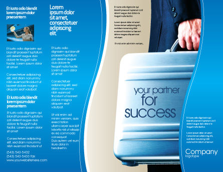 Suitcase  Brochure Template, Outer Page, 01996, Business Concepts — PoweredTemplate.com