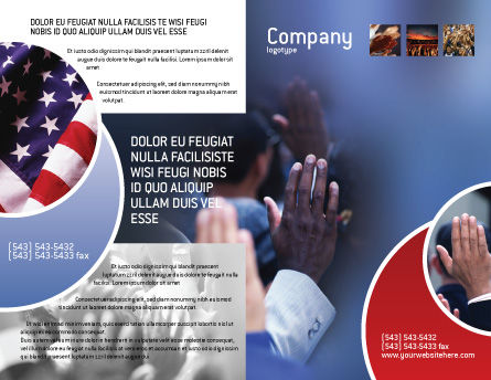 Voting Brochure Template, Outer Page, 02001, Legal — PoweredTemplate.com