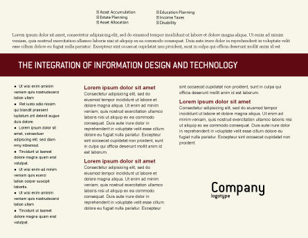 Business Consulting Session Brochure Template, Inner Page, 02003, Consulting — PoweredTemplate.com