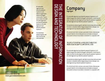 Business Consulting Session Brochure Template, Outer Page, 02003, Consulting — PoweredTemplate.com