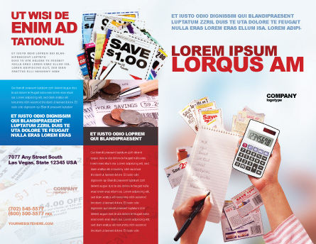 Discount Brochure Template, Outer Page, 02004, Financial/Accounting — PoweredTemplate.com