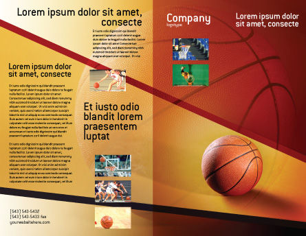 Before Basketball Game Brochure Template Outer Page