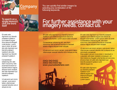 Oil Well Brochure Template, Inner Page, 02018, Utilities/Industrial — PoweredTemplate.com