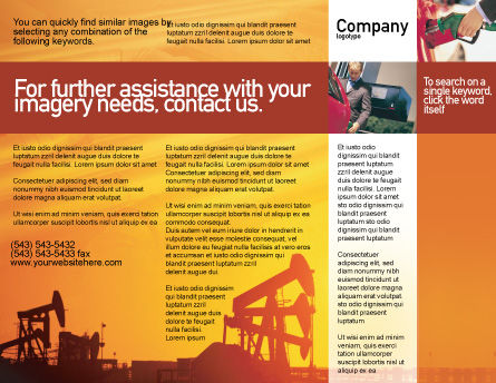 Oil Well Brochure Template, Outer Page, 02018, Utilities/Industrial — PoweredTemplate.com