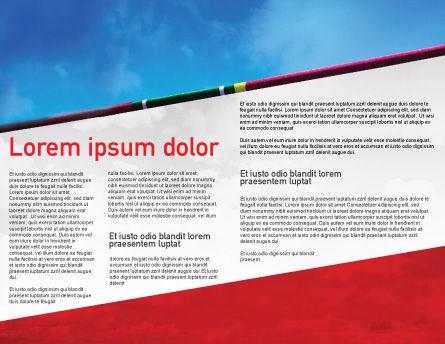 High Jump Brochure Template, Inner Page, 02020, Sports — PoweredTemplate.com