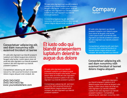 High Jump Brochure Template Outer Page