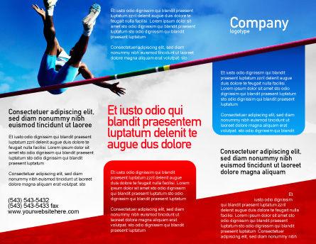 High Jump Brochure Template, Outer Page, 02020, Sports — PoweredTemplate.com