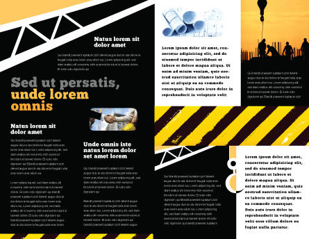 Building Industry Brochure Template, Inner Page, 02021, Construction — PoweredTemplate.com