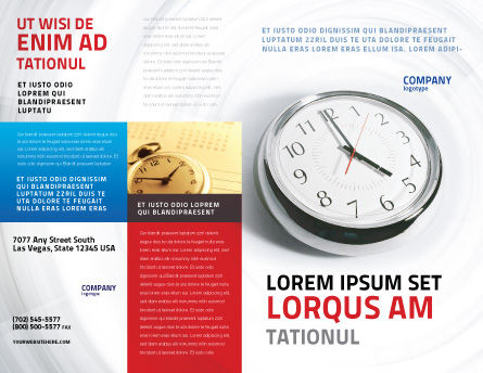 Five O'clock Brochure Template, Outer Page, 02024, Consulting — PoweredTemplate.com