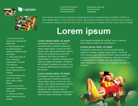 Gridiron Football Brochure Template, Inner Page, 02030, Sports — PoweredTemplate.com