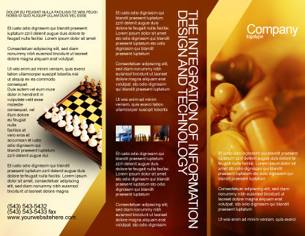 Chess Figures To Play Strategic Games Brochure Template, Outer Page, 02033, Sports — PoweredTemplate.com