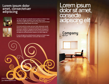 Apartment Design Brochure Template Outer Page
