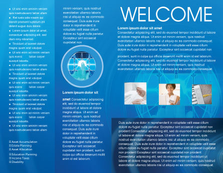 Cybernetics Brochure Template, Inner Page, 02046, Technology, Science & Computers — PoweredTemplate.com