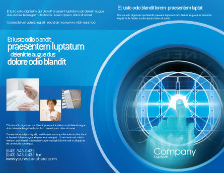 Cybernetics Brochure Template Outer Page