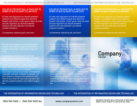 Teamwork Meeting Brochure Template, Outer Page, 02055, People — PoweredTemplate.com