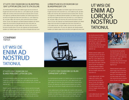 Handicapped Brochure Template, Inner Page, 02064, Medical — PoweredTemplate.com