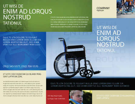Handicapped Brochure Template Design And Layout Download Now
