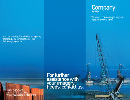 Port Brochure Template Outer Page