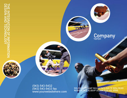 Sprint Brochure Template Outer Page