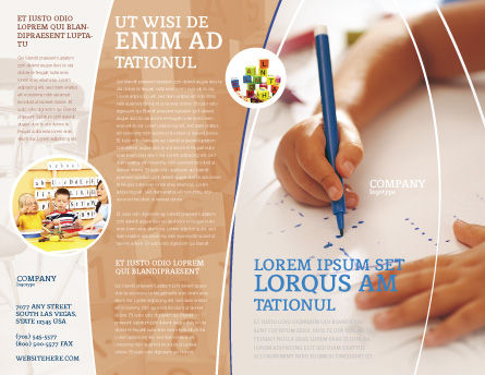 Child Learning Brochure Template, Outer Page, 02106, Education & Training — PoweredTemplate.com