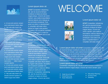 Children Hands Brochure Template, Inner Page, 02117, Religious/Spiritual — PoweredTemplate.com