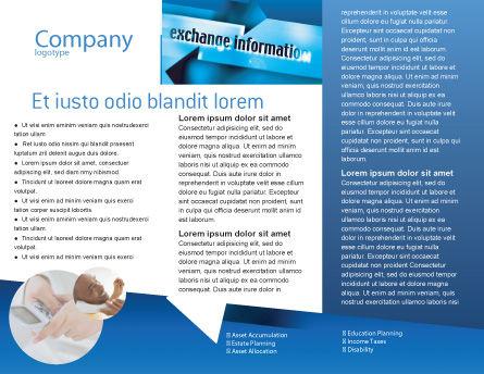 Information Exchange Brochure Template, Inner Page, 02125, Telecommunication — PoweredTemplate.com
