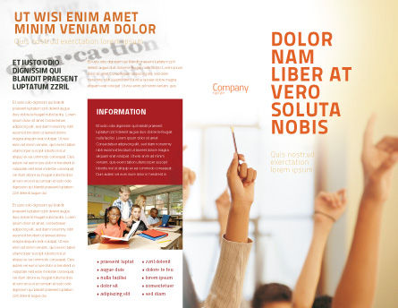 School Activity Brochure Template, Outer Page, 02137, Education & Training — PoweredTemplate.com