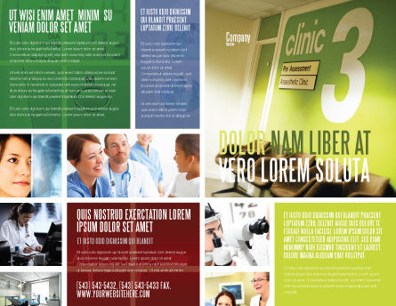 Clinic Brochure Template Outer Page