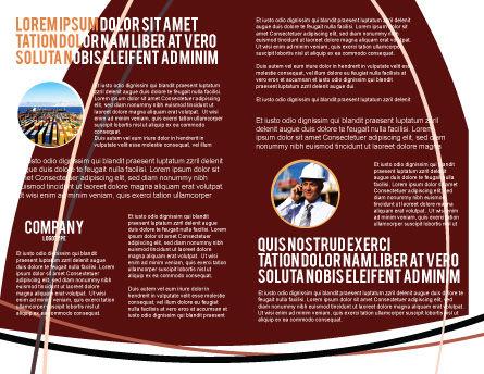 Hook Brochure Template, Inner Page, 02152, Utilities/Industrial — PoweredTemplate.com