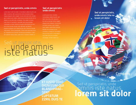 World Flags Brochure Template Outer Page