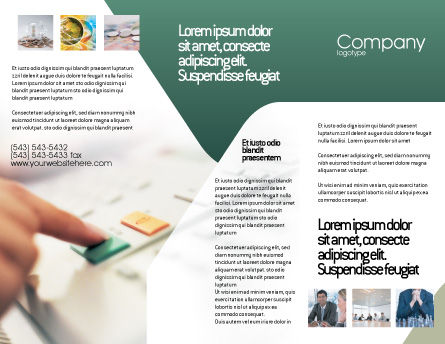 Fax Brochure Template, Outer Page, 02154, Telecommunication — PoweredTemplate.com