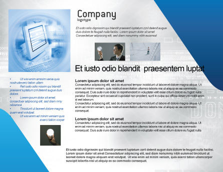 Digital Computing Technology Brochure Template Inner Page