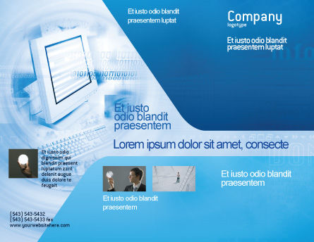 Digital Computing Technology Brochure Template, Outer Page, 02160, Technology, Science & Computers — PoweredTemplate.com