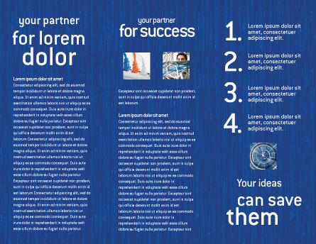 Internet Switch Brochure Template, Inner Page, 02170, Telecommunication — PoweredTemplate.com