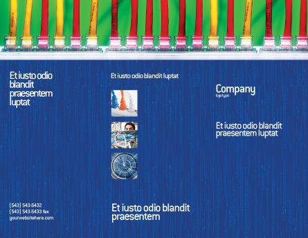 Internet Switch Brochure Template, Outer Page, 02170, Telecommunication — PoweredTemplate.com