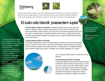 Botany Brochure Template, Inner Page, 02176, Nature & Environment — PoweredTemplate.com