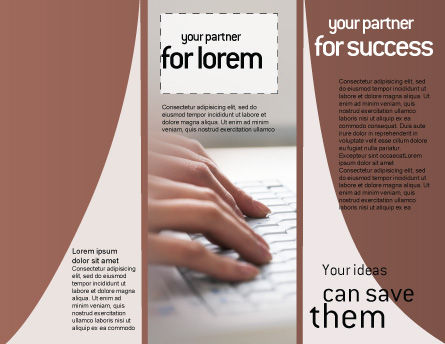Laptop Computer Brochure Template, Inner Page, 02180, Technology, Science & Computers — PoweredTemplate.com