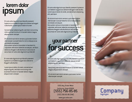 Laptop Computer Brochure Template Outer Page