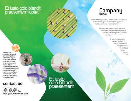 Pure Nature Brochure Template, Outer Page, 02183, Nature & Environment — PoweredTemplate.com