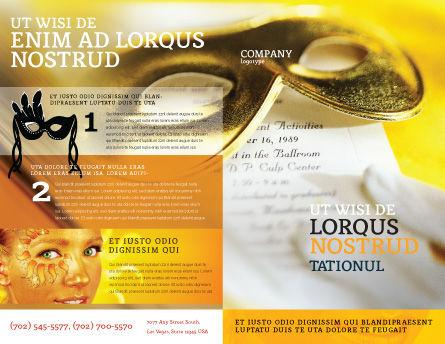 Masquerade Brochure Template, Outer Page, 02188, Art & Entertainment — PoweredTemplate.com