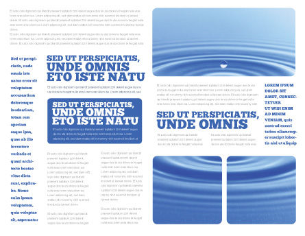 Water Purification Brochure Template Inner Page