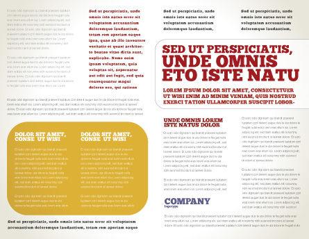 Musician Brochure Template, Inner Page, 02194, Art & Entertainment — PoweredTemplate.com