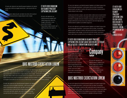 Road Sign Brochure Template, Inner Page, 02198, Education & Training — PoweredTemplate.com