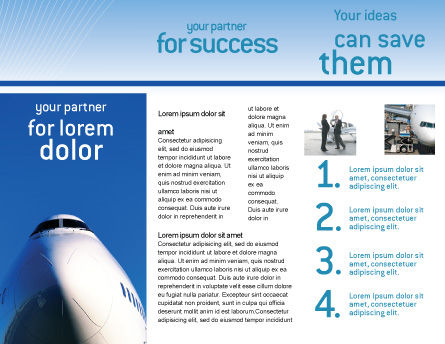 Aircraft Ready To Fly Brochure Template, Inner Page, 02204, Cars/Transportation — PoweredTemplate.com
