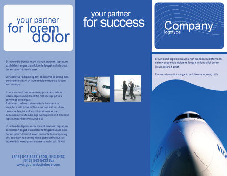 Aircraft Ready To Fly Brochure Template, Outer Page, 02204, Cars/Transportation — PoweredTemplate.com