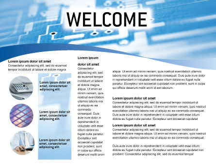 Microprocessor Brochure Template, Inner Page, 02205, Technology, Science & Computers — PoweredTemplate.com