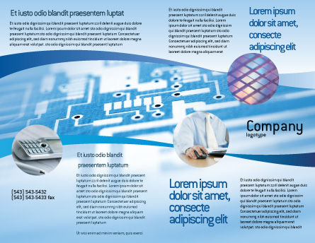 Microprocessor Brochure Template, Outer Page, 02205, Technology, Science & Computers — PoweredTemplate.com